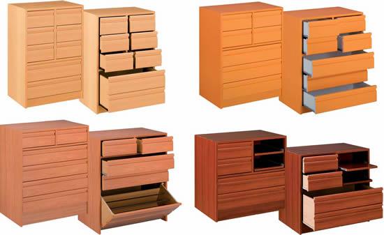 Combinaciones de cajoneras de madera tipos de cajoneras for Cajoneras de madera para cocina