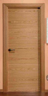 Puerta Lisa con Lineas Mahot Roble
