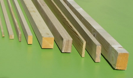Listones de madera medidas